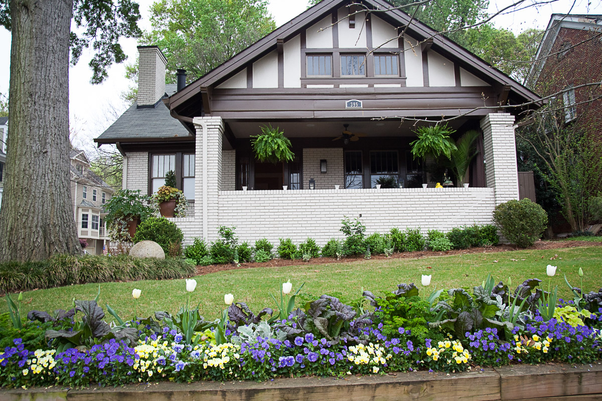 Piedmont park front yard cultivators landscape for Home garden design atlanta